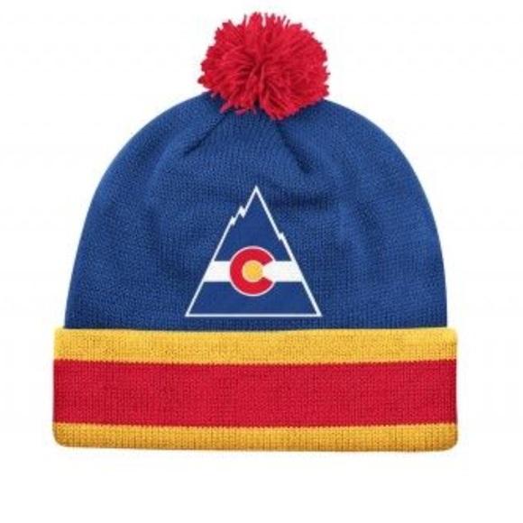 c65d3d83ed8 NHL Colorado Rockies Mitchell   Ness Stocking Hat
